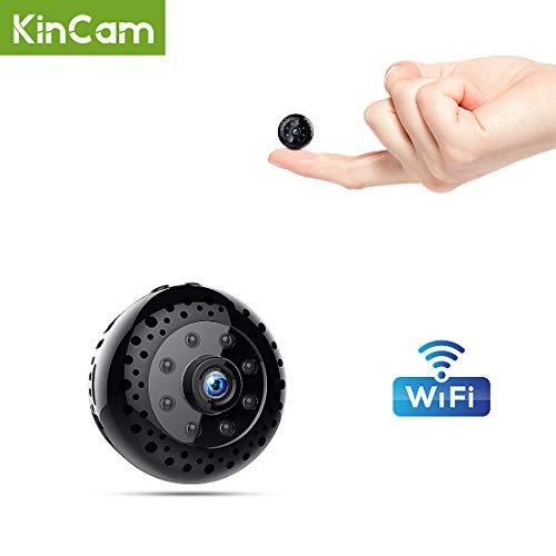 Mini Microcamere Spia,Kincam HD1080P Spia Videocamera nascosta Microcamera Videocamera Interno telecamera di sorveglianza con Visione notturna/Rilevamento del movimento di Interno Per Iphone Android