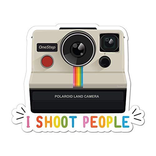 I Shoot People Polaroid Land Kamera Fotografie Retro Vintage Autoaufkleber