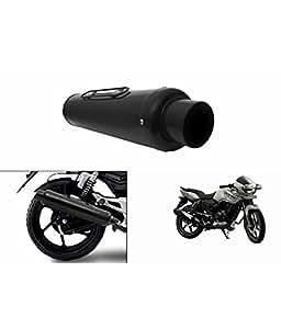 Spedy PE-1 Bike Slip On Performance Exhaust Can Black Bajaj Discover 150S