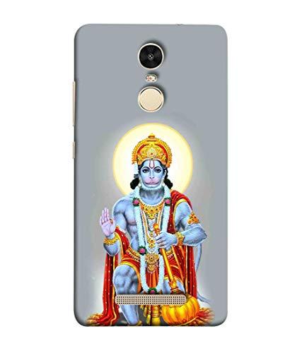 Printfidaa Indian Hindu God Lord Hanuma in Grey Colour Background Print Designer Back Cover for Xiaomi Redmi Note 3
