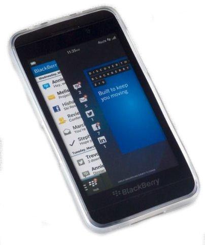 Silikon TPU Handy Cover Case Hülle in Foggy - für BlackBerry Z10