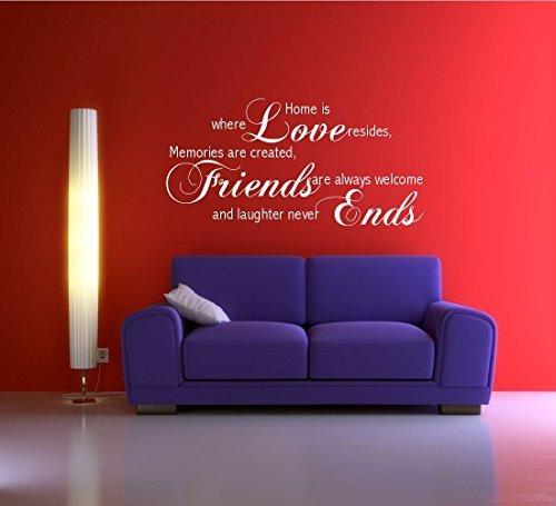 Wall Smart Designs Wandtattoo Zitat LOVE FRIENDS Erinnerung Familie