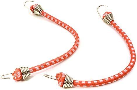 Integy RC Model Hop-ups C26932CHROMERED 1/10 Model Scale 3x100mm Bungee Elastic Cord Strap w/ Hooks for Off-Road Crawler | Bonne Conception Qualité