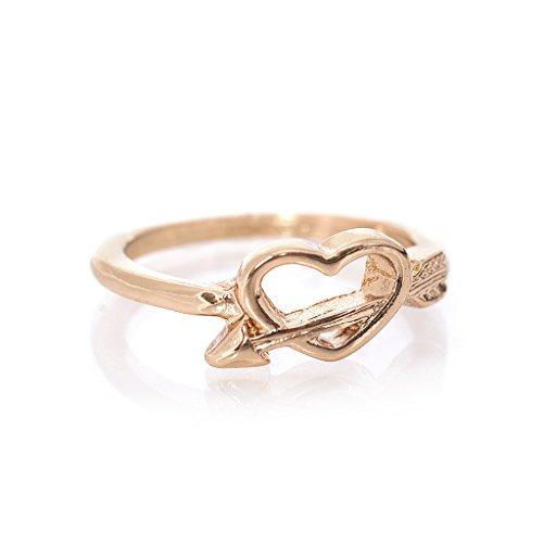 """Ring Modeschmuck """"Herz mit Pfeil"""" Farbe: Gold // Ringgröße 53"""