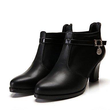 GLL&xuezi Da donna Stivaletti Comoda Stivaletti alla caviglia Pelle PU sintetico Autunno Inverno Formale Serata e festa A stiletto Nero Vino5 - 7 black