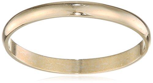 Theia Unisex 9ct Gelbgold, Schweres D-Form, poliert Ehering
