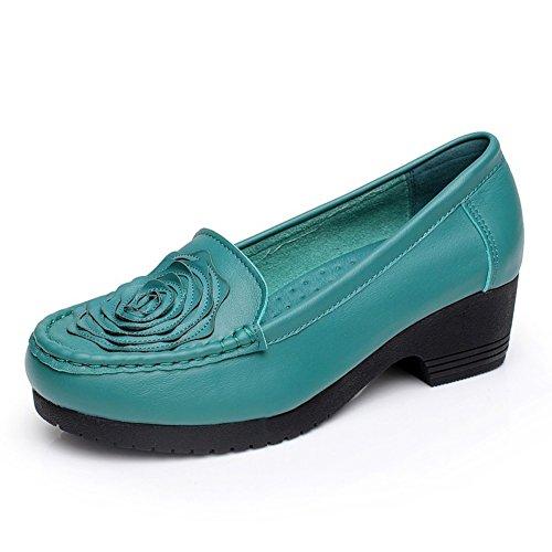 Chaussures pour femmes/Chaussures occasionnelles de cintre de cuir souple antidérapant A