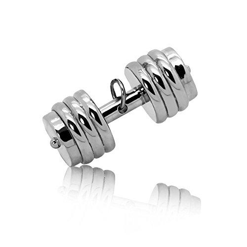 tumundo Ketten-Anhänger Hantel Gewicht Boxhandschuh Sport Fitness Edelstahl Für Halskette Königskette Herren Herrenkette Silbern, Variante:Modell 2