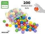 EEVOVEE 200 pcs Color Balls for Kids / Pool Balls Genuine Quality Set