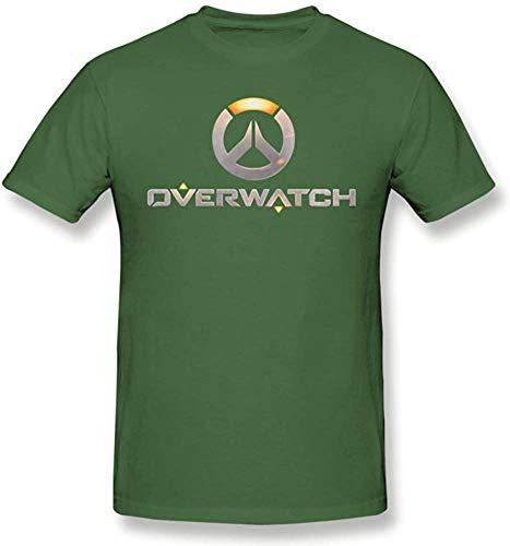 Medress T-Shirt š€ Manches Courtes Comfort Classic pour Hommes Overwatch Logo Classic Comfort, Vert Mousse