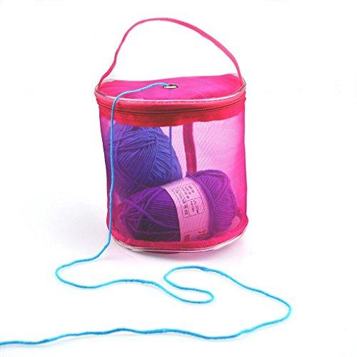 Aufbewahrungstasche für Wolle und Strick-Garn, Jaminy-Stoffbeutel, Organisator, Stricktasche, Woll-Lagerung, Garn-Halter - Schützen und lagern Sie Ihr Garn - Strick-Zubehör. hot pink (Baumwolle-wolle-halter)