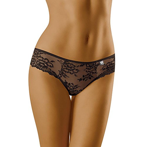 Wolbar Damen Slip 3516 Limited Edition Diamant, Schwarz,Medium