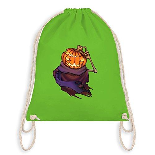 Halloween - Kürbiskopf - Turnbeutel I Gym Bag Hellgrün