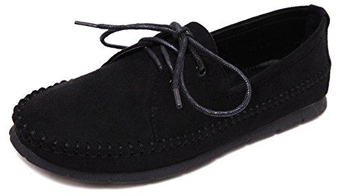 Fangsto  Boat Shoes,  Mädchen Damen Ballett , mehrfarbig - schwarz - Größe: 35 (Nurse Dolly)