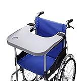 Accessoires de table pour fauteuils roulants avec porte-gobelet chaise enfant portable plateaux universels Bureau pour fauteuils roulants électriques ou motorisés manuels (gris)