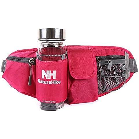 MaMaison007 NatureHike all'aperto equitazione marsupio borsa borraccia borsa cellulare 4 colori - rosso