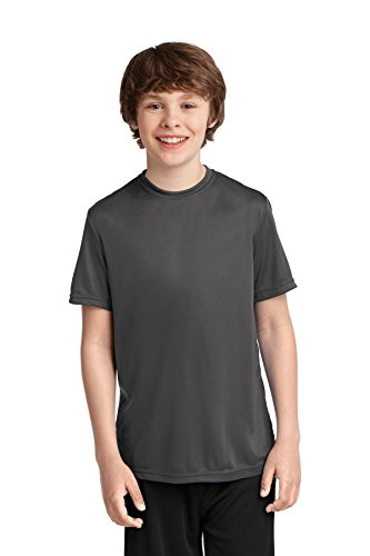Port & Company® Youth Performance Tee. PC380Y Charcoal L