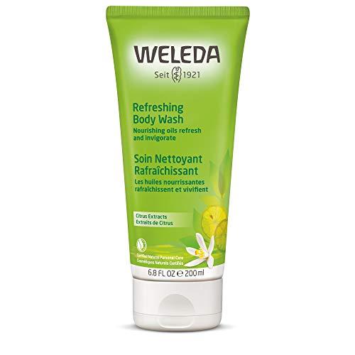 WELEDA Citrus Erfrischungsdusche, Naturkosmetik belebendes Bio Duschgel mit Zitronen Und Orangen Duft, Pflegende Reinigung für Haut, Körper und Gesicht (1 x 200 ml) -