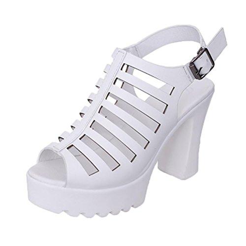 Witsaye sandali donna con zeppa estive elegant scarpe donna estive eleganti scarpe donna tacco medio -le donne flip flop cave zeppa tacco alto scarpe donna estate sandali (38, bianco)