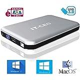 """IT735U3 e-SATA / USB 3.0 Caja externa de unidad de disco duro de 3,5 """" SATA con cable USB3 - de color plata"""
