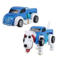 Fotica Kid Car Toy, Clockwork Car Cartoon Toy Dog Cars, Wind-Up Deformation Vehicle Truck Educational Toy for Kids