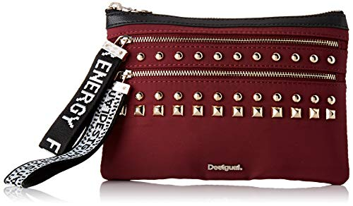 desigual 19waya01, portafogli donna rosso rosso (granate oscuro 3099) 1x15.5x22.5 cm (b x h x t)
