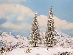 NOCH 21965 - Árboles de Nieve (2 Unidades, 16 y 18 cm de Alto), Color Blanco