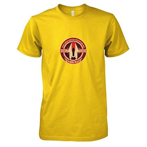 TEXLAB - SW: A-Wing Rebel Pilot - Herren T-Shirt, Größe XXL, gelb