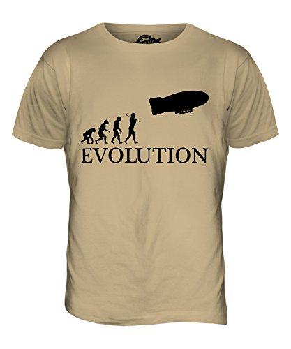 CandyMix Luftschiff Evolution Des Menschen Herren T Shirt Sand