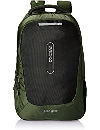 American Tourister Polyester 38 Ltrs Olive Laptop Backpack (AMT TECH GEAR LAPTOP BP 02-OLV)