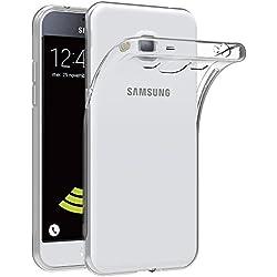 AICEK Coque Samsung Galaxy J3 2016, Etui Silicone Gel Samsung Galaxy J3 2016 (J320F) Housse Antichoc Samsung J3 Transparente Souple Coque de Protection pour Samsung Galaxy J3 2016 (5.0 Pouces)