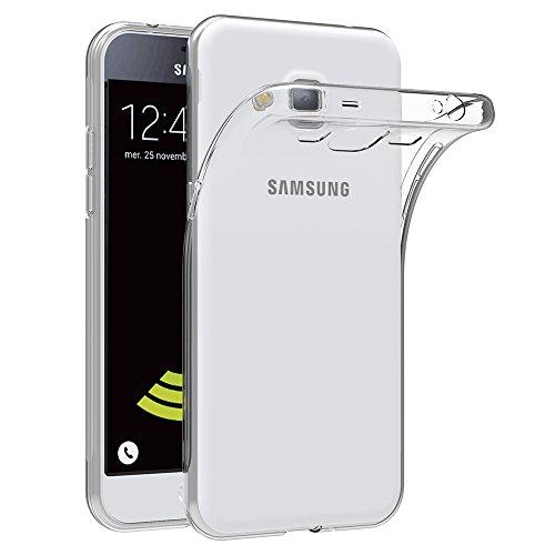 Soft-silikon-hülle (AICEK Samsung Galaxy J3 2016 Hülle Case, Galaxy J3 2016 Case Silikon Soft TPU Crystal Clear Premium Durchsichtig Handyhülle Schutzhülle Case Backcover Bumper Slimcase für Galaxy J3 2016)