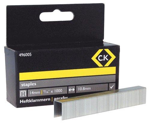 Preisvergleich Produktbild C.K Tackerklammern, 10, 5 x 14 mm, Inhalt 1.000 Stück