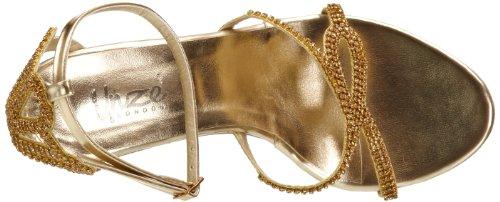 Unze Evening Sandals, Damen Sandalen Gold (L18216W)