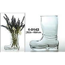 DonRegaloWeb - Jarrón de cristal transparente con forma de bota