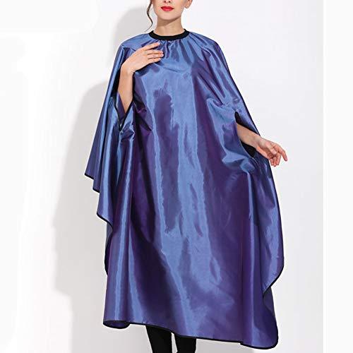 RIAWB Hochwertiges Mehrfarbiges Friseur-Umhang-Haarschneidekleid Wasserdicht, Antistatisches Färben 160 * 145CM,Blue