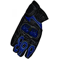 VECTOR PRO SERIE MOTORCYCLE LEATHER SPORTS GLOVES TPU KNUCKLE Blue Small S