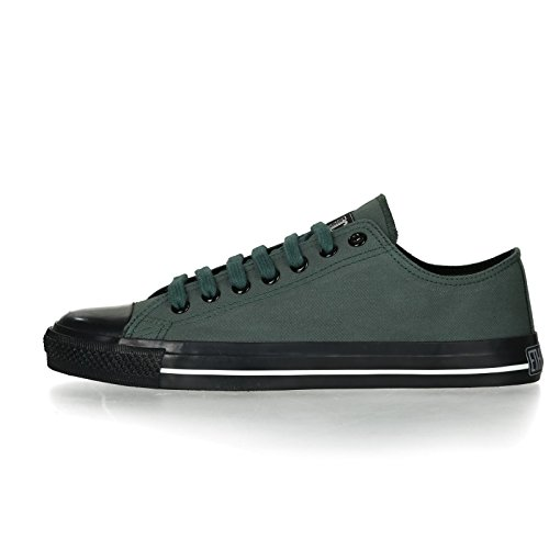 Ethletic Black Cap vegan LoCut Collection 17 - Farbe reseda green / jet black aus Bio-Baumwolle Größe 37 - 3