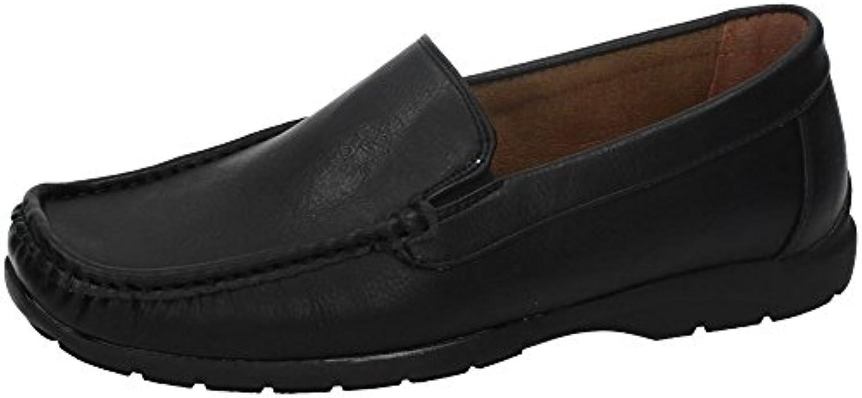 LEIRONG 2016-78 Mocasines Baratos Hombre Zapatos MOCASÍN Negro 40