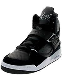 Nike Jordan Vuelo 45 High (gs) ShoeWolf gris / voltio hielo / blanco / azul oscuro polvo…