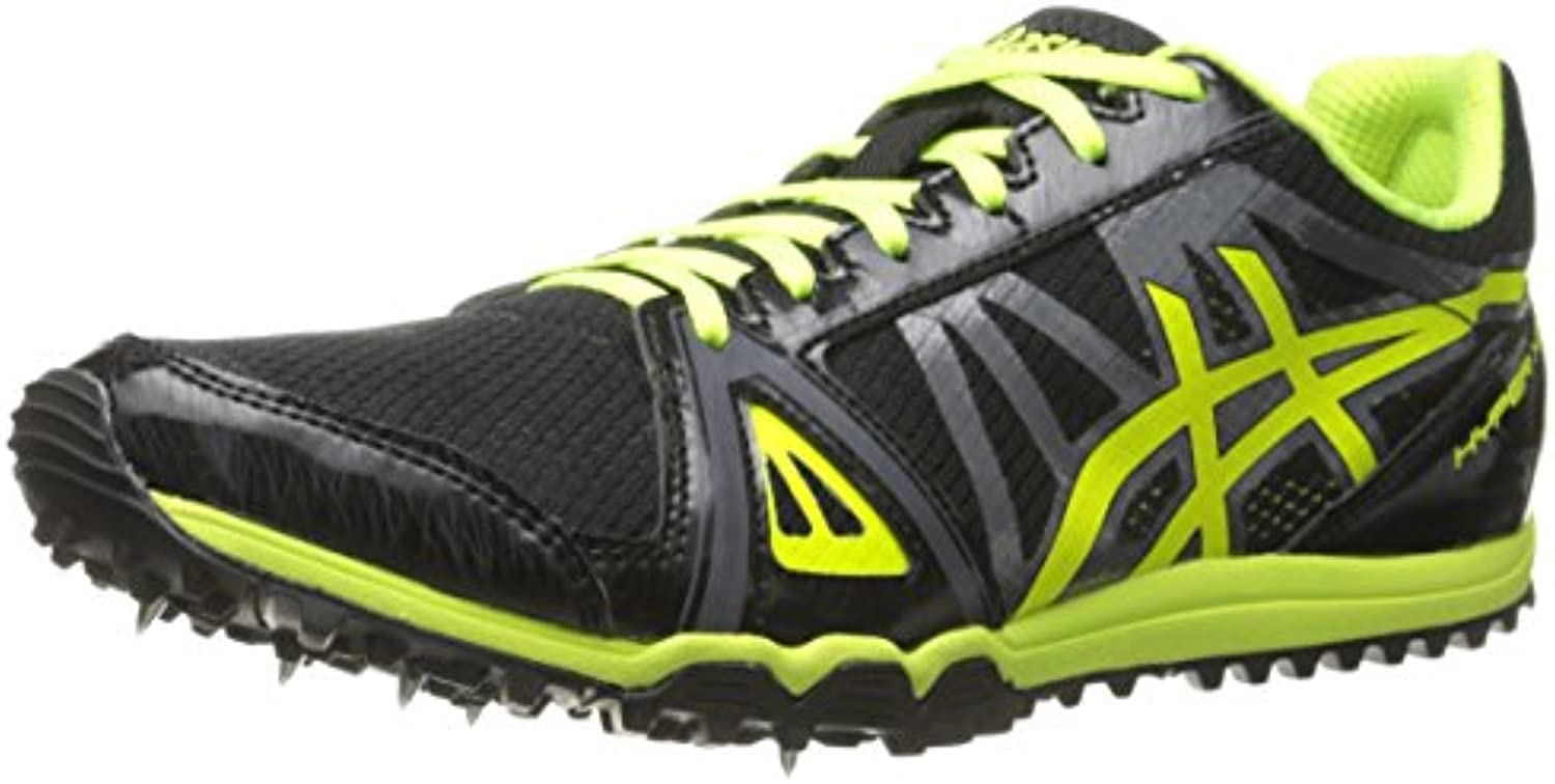 Hombre Hyper XC Cross Country Spike, Negro / Flash Amarillo / Carbono, 12 M EE. UU.