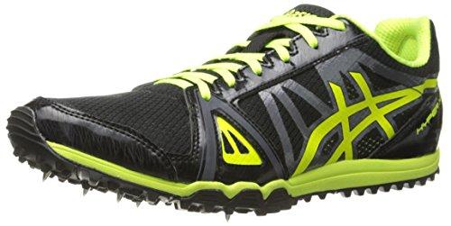 ASICS Men's Hyper XC Cross Country Spike, Black/Flash Yellow/Carbon, 11.5 M US -