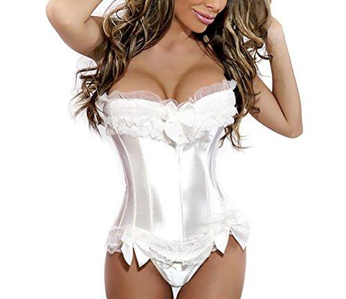 Bustino donna corsetto gotico vintage sposa modellante dimagrante cincher training shapewear ragazze giovane bustini corpetto (color : bianca, size : m)