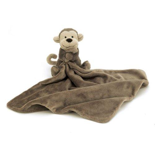 Jellycat Bushful Monkey Soother 33cm groß Schmusetuch Affe Schnüffeltuch Baby