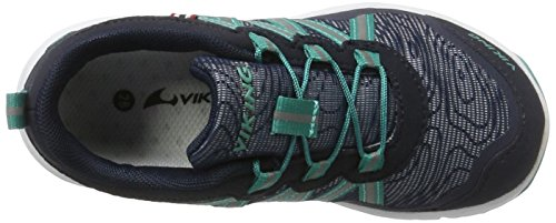 Viking Kollen, Chaussures Multisport Outdoor mixte enfant Blau (Navy/Green)