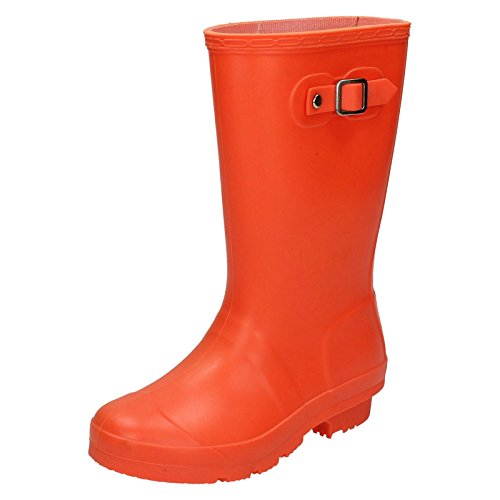 Girls Spot On Bright Coloured Wellington Boots X1198