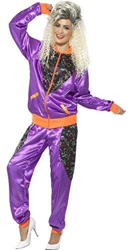 Confettery - 90er Jogging Sport Kostüm Sportoutfit für Damen, M, Mehrfarbig (90's Madonna Kostüm)