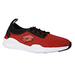 Lotto Mens Amerigo Red/Black Running Shoes - 8 UK/India
