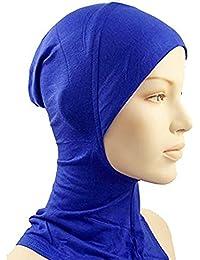 hrph En virtud de la bufanda del casquillo del sombrero del capo del hueso Cabeza Hijab islámico desgaste del cuello cubierta musulmanes