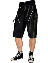 Nix Gut Black, Short Straight-Fit-Style, Color Black With White Pinstripes